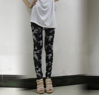 Women's Lady Girl Black Sexy Camo Slim Army Camouflage  Pants Leggings Trousers Fashion 2013 G6
