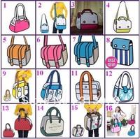38 Styles 3D cartoon bags 3d cartoon comic bags 3d bag free shipping