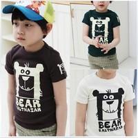 Special offer 2014 children's t-shirt cartoon clothing summer short sleeve sport t-shirts,100% Cotton,5size children's clothing