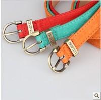 New 2014 Fashion Woman belt Popular pigskin thin belt waist belt women's strap 1.8 women's belt