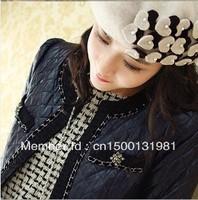 Lady flowers fashion hats Wool Beret KAKI with heart-shaped high-grade painter cap