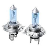2pcs/lot Free Shipping New H4 5000K Xenon Super White Car HeadLight Bulb 12V HID Halogen light Kit