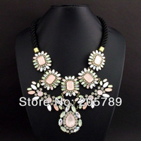 Hot sale Fashion elegant full stone rhinestone collar choker necklace free shipping