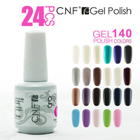 Free shipping Wholesale 24PCS/LOT 15ml Soak-Off Nails Gel Polish UV LED Art polish Care Retail(20 Colors +2 Base +2Top)