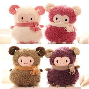 wholesale price Christmas gift SHEEP Lamb soft stuffed plush animal doll toys cute cushion pillow hand warmer 1 piece(China (Mainland))