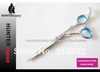 "2013 New Arrival 5.5"" Blue Diamond Screw barber Razor Scissors Professional Beauty Hair Cutting Shears with a bag 440C Quality"