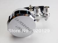 CHROME Front Brake Fluid Cap w / Tank For Honda CBR 1000 RR 1000RR CBR1000RR Free Shipping