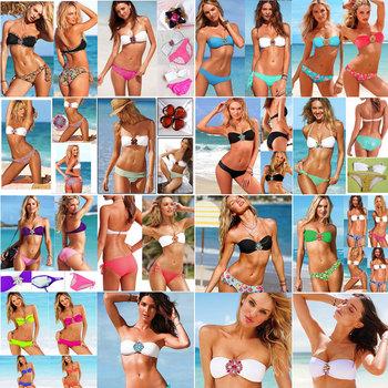 Women's Bikini rhinestone Swimsuit diamond Swimwear New Arrival Bikinis V S Strappy Sexy for Women Free shipping