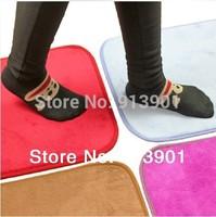 Free shipping  Ultrafine fiber coral fleece slip-resistant pad thickening absorbent mats doormat bath mat 130g