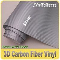 Free Shipping Wholesale 3D Carbon Fiber Vinyl Self Adhesive Carbon Fiber Wrap 1.52*30m 0.13mm Thickness