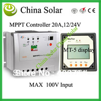 MPPT Solar controller Tracer 2210RN with MT-5 Remote Meter,20A,12/24 V, Best Price  and Free Shipping