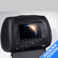 7 inch car Headrest DVD Player with touch panel +digital panel +Zipper+IR+FM+32bit game+USB+SD for one pcs
