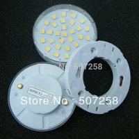4pcs/lot  GX53 LED lamp bulb + lamp holder, 30pcs smd5050, 6watt 120vAC cabinet lamps, free shipping 201332