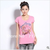 Toward the new summer 2012 cat and mouse TOM and JERRY cartoon round collar short sleeve T-shirt Free shipping