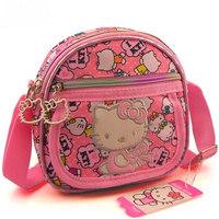 2014 Hot sale KITTY messenger bag Cartoon Satchel for children Lovely shoulder bag Retails girls small messenger bags