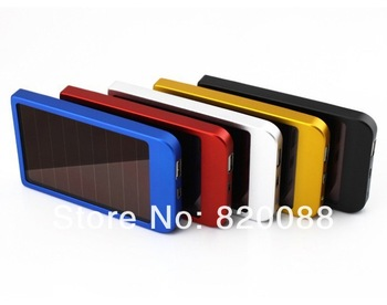 Free shipping 2600mAh Solar Charger Portable USB Solar Power bank for Mobile Phone MP3/MP4 PDA etc.