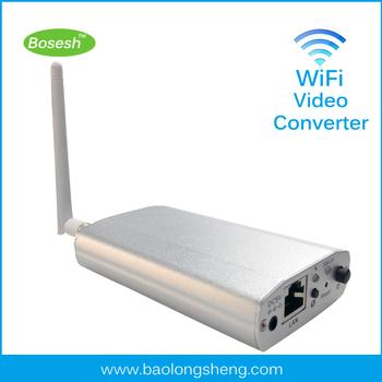 P2P DVS wireless conversion device analog video transmitter to vga digital ip camera