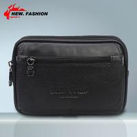 Hot Selling 2014 Cowhide Men's Belt Bag Genuine Leather Sport Bag Men Outdoor Waist Pack Mobile Phone Case Free shipping NO101
