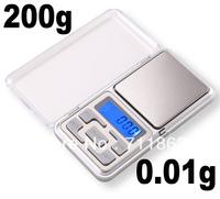 hot 0.01g x 200g Digital Pocket Balance Weight Jewelry Scale with retail box