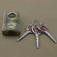 G4140CF high quality unique design 3 alloy bullets key zinc alloy padlock security lock