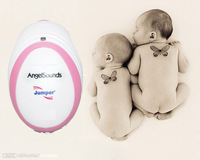 HOT selling!! SO MINI!  CE &FDA Angelsounds Fetal Doppler Pocket ultrasound fetal heart monitor, with earphone and USB cable
