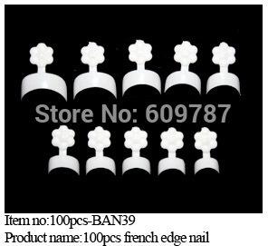 Free shipping 5boxes/ lot -100pcs in a box  white french edge false nail tips Children Acrylic Nail Art Tips