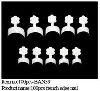 Free shipping 5boxes/ lot -100pcs in a box  white french edge false nail tips Children Acrylic Nail Art Tips