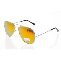 Free Shipping New Fashion Yellow Mirror Mens Sunglasses Brand New Retro Reflective Gold Metal Sunglasses 1pcs Retail