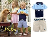New, retails ,Free Shipping, boy T shirt +pants, boys clotehs set, 1set/lot,80-100-110--JYS266