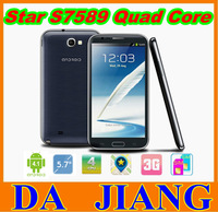 "Star S7589 MTK6589 Quadcore 1.2Ghz CPU,android 3G smart phone,Android 4.1.2OS,1GB RAM+4G ROM,5.7"" 1280*720P screen"