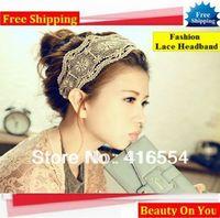 Free Shipping 2013 beautiful girls' Fashion Lace Headbands hair head band.9pcs/lot different pattern.