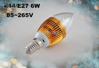 on sales DHL FREE E14 E27 3*2 6W High Power Led Candle bulb led lamps led lighting chandelier bulbs