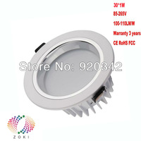 Fast Shipping Factory Wholesale 30W 25W 15W Warranty 3 Years CE RoHS Lifespan 50000H High Lumen LED Downlight Globes