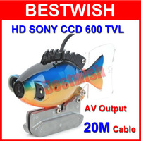 Freeshipping HD SONY CCD 600 TVL Underwater Camera With 20M Cable Fishing Camera CCTV Camera Video Camera 2 LED Night Vision