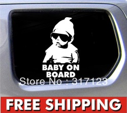 "Free shipping (100pieces/lot) Baby on Board Carlos Hangover funny car vinyl sticker decal 6*6"" Custom Made Car Stickers(China (Mainland))"