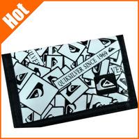 promotion sale hot Sports canvas wallet short letter print designer casual good quality wallet for women men 17 colors