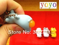NEW rare 4 styles cow squeeze out shit toy keychain /bag charm