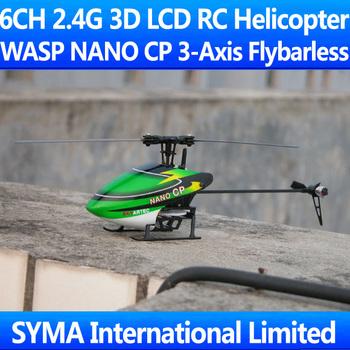 Skyartec WASP100 NANO CP 6CH 2.4G 3D Flybarless Single Blade 3-Axis Gyro 7CH LCD TX Controller Mini Outdoor RTF RC Helicopter