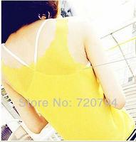 Free shipping Hot sale New Fashion Women's Tank Top T Shirts Vest Lady summer tops lace Chiffon for women