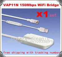 1set x New Arrival! VAP11N 150Mbps Mini Wireless WiFi Bridge+WiFi Repeater Free Shipping