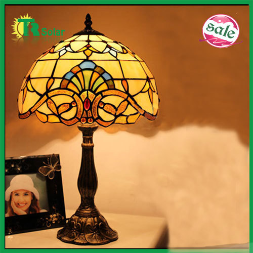 Free shipping,Tiffany Table Lamp,Home Decor,Wedding Gift European Contemporary And Contracted Fashion Stained Glass Desk Lamp(China (Mainland))