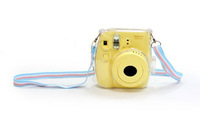 New Fujifilm Instax Mini 8 Camera Transparent Crystal Case with shoulder strap