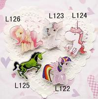 Mix order -min order is $ 20 acrylic badge popular hotsale brooch lovely ponny horse cartoon brooch L122 L123 L124 L125 L126