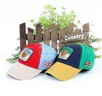 New arrival Korea buttons Cubs children baseball cap ,kids casual cap ,girl and boy summer sun hat