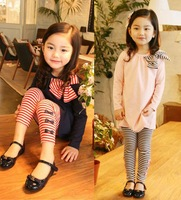 2013 Spring And Autumn Children Clothes Child Clothing Girls Sportswear Set Free Shipping
