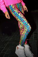 2014 Fashion Women Sex Lady  Pants Multicolor The Leopard Patterns Big No Skirt High Spandex Leggings 13167