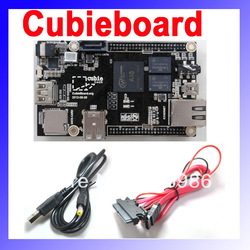 Raspberry Pi Enhanced Version Mini PC Cubieboard 1GB ARM Development Board Cortex-A8 with Power Supply Cable SATA Wire(China (Mainland))