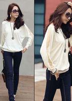 Free shipping New Fashion 2013 Sexy Korea Sheer Net Kimono Batwing Blouse Tops T-shirt D0052