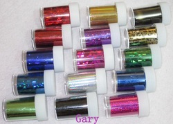 Newest 33 colors rolls transfer foil + 1pcs soft pusher / nail art wraps sticker foils cover decals glitter decoration(China (Mainland))