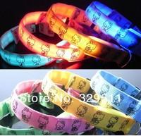 Hotsale ! Hello Kitty Glowing LED Cat Dog Pet Flashing Light Up Safety Collar & Luminous LED Dog Collar